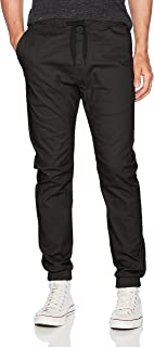 Men's Jogger Pants in Basic Solid Colors and Stretch Twill Fabric