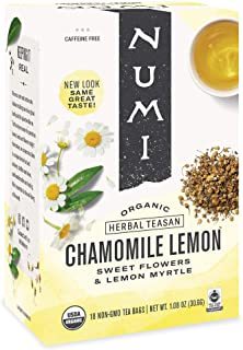 Sponsored Ad - Numi Organic Tea Chamomile Lemon, 18 Count Box of Tea Bags (Pack of 3) Herbal Teasan (Packaging May Vary)
