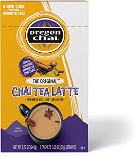 Oregon Chai Original Chai Tea Latte Powdered Mix, 8 Count Envelopes per Box, 1.1 oz each (31g) (Pack of 6), Powdered Spice...