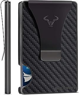 Mens Wallet Money Clip 20Cards,Bulliant Slim Front Pocket Card Case Wallet RFID Blocking,One-Piece Aluminium Gift Boxed