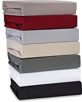 Farbe grau 100/% Baumwolle Steghöhe 30 cm Kaeppel Biber Spannbettlaken