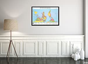 2005 Map World The World Turned Upside Down Includes Three Map|Projection Examples and Text.|Vintage Fine Art Reproduction|Ready to Frame
