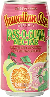 KC Commerce Hawaiian Sun Fruit Juice Drink - 11.5 oz (Passion-O-Guava Nectar Pack of 6)