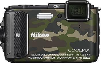 Nikon Digital Camera COOLPIX AW130 Camouflage Green [International Version, No Warranty]