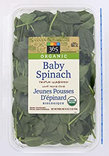 365 Everyday Value, Organic Baby Spinach, 16 oz