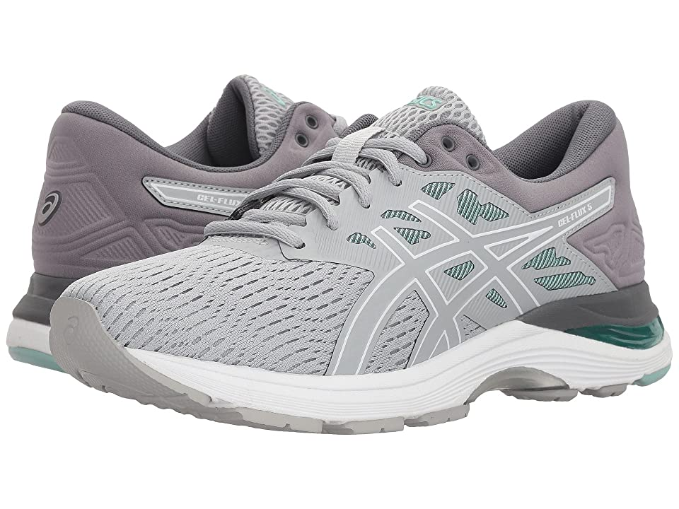 ASICS GEL-Flux 5 (Mid Grey/White/Opal Green) Women