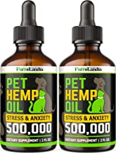 FurroLandia (2 Pack) Hemp Oil for Dogs - 500,000 - Separation Anxiety, Joint Pain, Stress & Inflammation Relief - Pet Hemp...