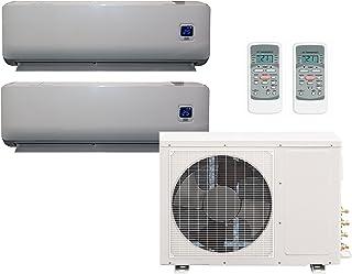Comfee MS11M6-18HRFN1-Duo Full-Inverter Split - Equipo de Aire Acondicionado 2 x 9000 BTU Incl. Bomba térmico, tamaño de la habitación 2 x 32 m², clasificación energética: A++