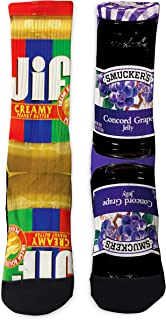 Custom SS Peanut Butter and Jelly Athletic Socks