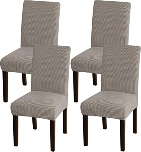 Turquoize Chair Covers for Dining Room Dining Chair Covers Set of 4 Stretch Dining Chair Slipcover Parsons Chair Cove...