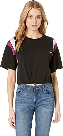 Nylon and Jersey Contrast Mix Tee