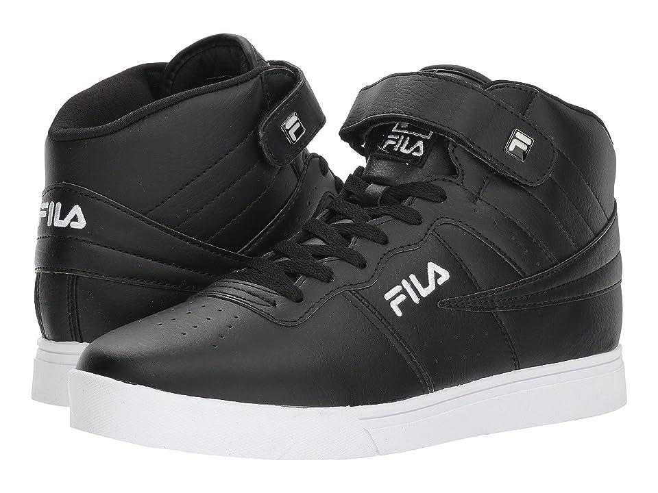 Fila Vulc 13 Mid Plus (Black/Black/White) Men