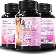 Natural Pueraria Mirifica Daily 2000mg Capsules - Breast Enhancement Pills for Women - Breast Enlarger, Vaginal Health, Menopause Relief, Skin & Hair Health 90 Vegetarian Capsules