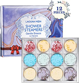 Lagunamoon Shower Steamers Aromatherapy Set of 12 for Relaxation, Shower Bomb with Essential Oils for Home Spa, Perfect Se...