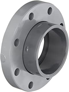 GF Piping Systems PVC Pipe Fitting, Van-Stone Flange, Schedule 80, Gray, 4