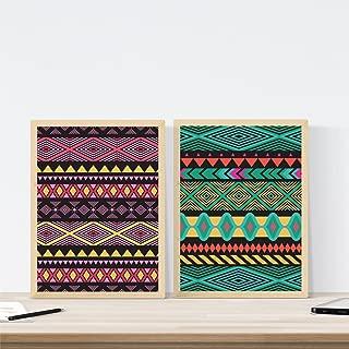 Nacnic Set de Dos láminas Estampadas para enmarcar. Dale un Toque Diferente a tu salón o habitación. Posters con imágenes de Estampados Decoración del hogar. Papel 250 Gramos