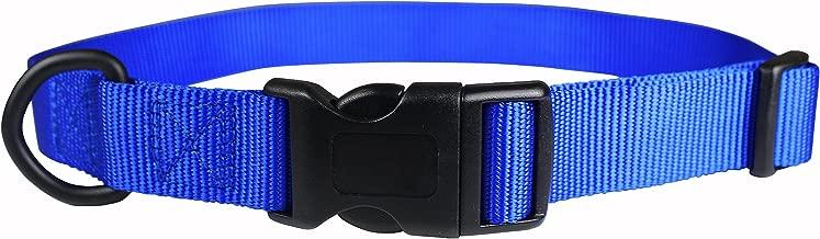"OmniPet Nylon Kwik Klip Adjustable Pet Collar, 18-26"", Blue"