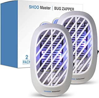 Shoo Master Indoor Plug-in Bug Zapper - Mosquito Zapper/Fly Zapper with UV Light - Fruit Fly Killer, Stink Bug Killer and Gnat Trap Indoor with Night Light - Fly Lamp Eliminates Flying Pests
