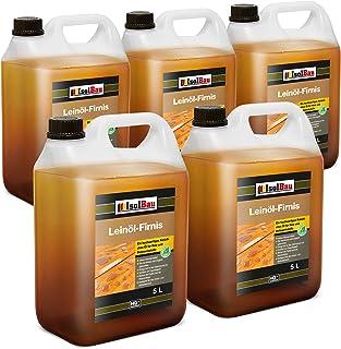 Isolbau 25 litros de aceite de linaza para madera de 25 litros de aceite de linaza para muebles de madera sin resina