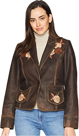 Connely Embroidered Ladies Leather Jacket