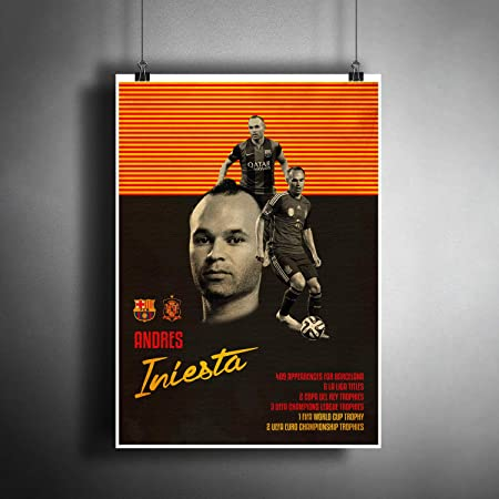 Andres Iniesta Silk Poster 24 X 14 inch