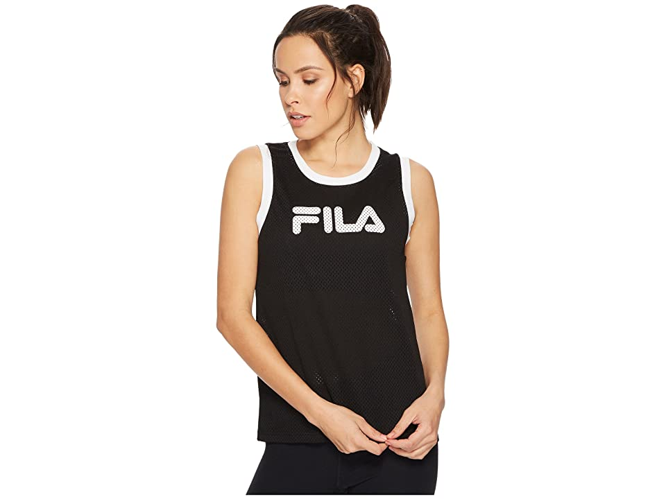 Fila Naima Tank Top (Black/White) Women
