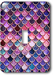 3dRose lsp_275448_1 Image of Sparkling Pink Purple Luxury Elegant Mermaid Scales Glitter Toggle Switch, Mixed