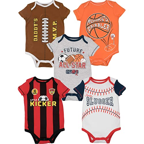c70aa3df48d1 Funstuff Baby Boy Girl 5 Pack Onesies Newborn Infant Gift Bodysuits
