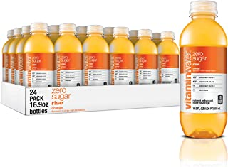 vitaminwater zero rise, electrolyte enhanced water w/ vitamins, orange drinks, 16.9 Fl Oz (Pack of 24)