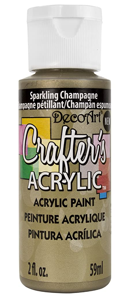 DecoArt Crafter's Acrylic Paint, 2-Ounce, Sparkling Champagne