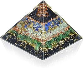 New Orgone Pyramid for Healing Heart | Black Tourmaline | Lapis Lazuli | Amazonite | Green Jade Orgonite Pyramid for EMF Protection - Crystal Chakra Stone Pyramid