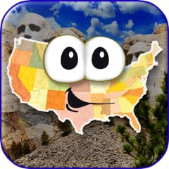 Hundreds of unique questions Interactive map and 50 state flash cards Choose any of the 50 friendly-looking states as your avatar Create up to six player profiles Collect all 50 states and track your progress on a personalized map Earn FREE bonus gam...