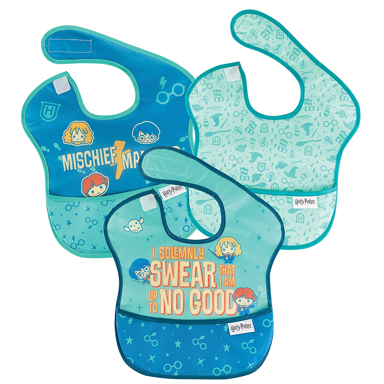 Bumkins SuperBib Boston Mall Baby Bib Waterproof Babies and Fabric Fits Max 65% OFF To