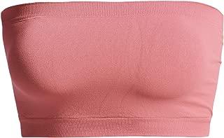 TheMogan Seamless Bandeau Bra Top Strapless Nylon/Span Stretch Bralette