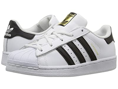 adidas Originals Kids Superstar C Foundation (Little Kid) (White/Black) Kids Shoes