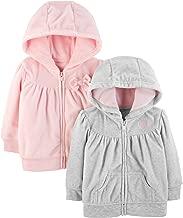 Simple Joys by Carter's Baby Girls' 2-Pack Fleece Full Zip Hoodies
