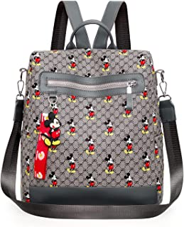 Mickey Mouse Rucksack Disney Rucksack Umhängetasche Große Kapazität Mickey Maus Handtasche Zipper Cartoon Tasche Schultert...