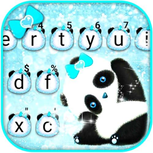 Blue Glitter Baby Panda Keyboard Theme