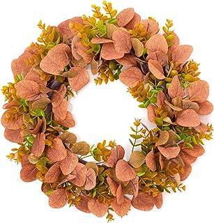 Lvydec Artificial Eucalyptus Leaves Fall Wreath - 15