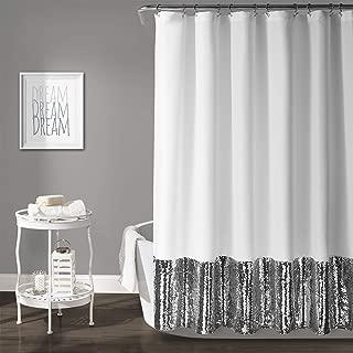 Lush Decor Mermaid Sequins Shower Curtain, 72