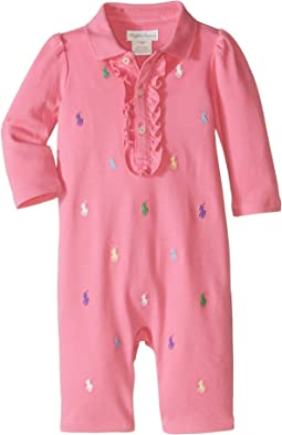 Interlock Schiffli One-Piece Coveralls (Infant)