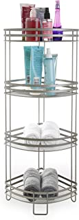 BINO 'Lafayette' Rust-Resistant 4-Tier Corner Spa Tower, Nickel