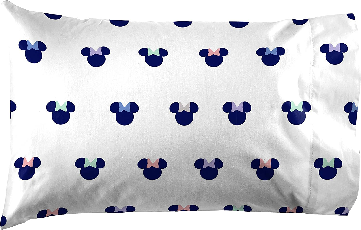 Saturday Park Minnie Mouse Pillowcase - 100% Cotton Pillow Cover - Ultra Soft & Durable - Disney Official - Oeko-TEX Certified : Home & Kitchen