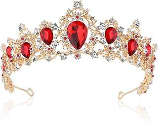 BINGHONG3 Luxury Wedding Bridal Rhinestone Faux Pearl Headband Tiara Hair Chain Headpiece