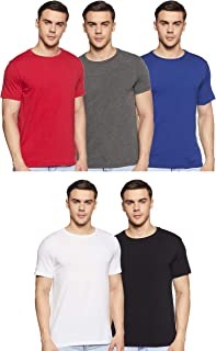 Amazon Brand - Symbol Men's Regular fit T-Shirt (Combo Pack of 5)