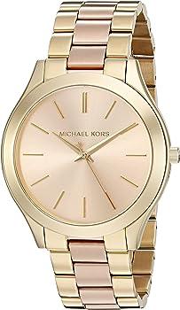 Michael Kors Womens Slim Runway Two-Tone Three-Hand Watch