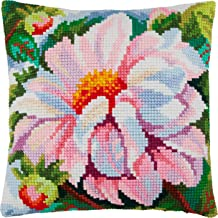 Bellflowers flowers floral bellflower Home Decor Throw Pillow Case 16/×16 Inches Printed Tapestry Canvas Cross Stitch Kit wildflower DIY Embroidery Needlepoint Cushion Cover Front European Quality