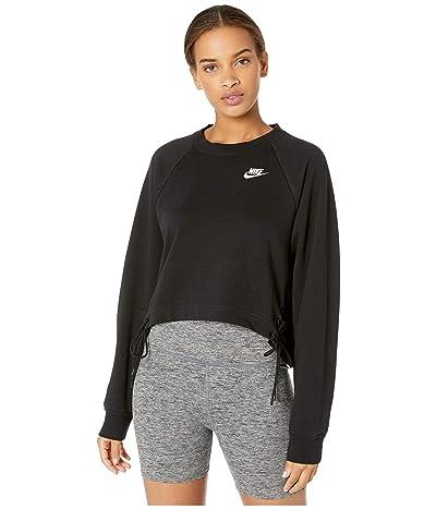 Nike NSW Essential Crew Fleece Tie (Black/White) Women