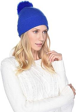 Luxe Knit with Sheepskin Pom Hat