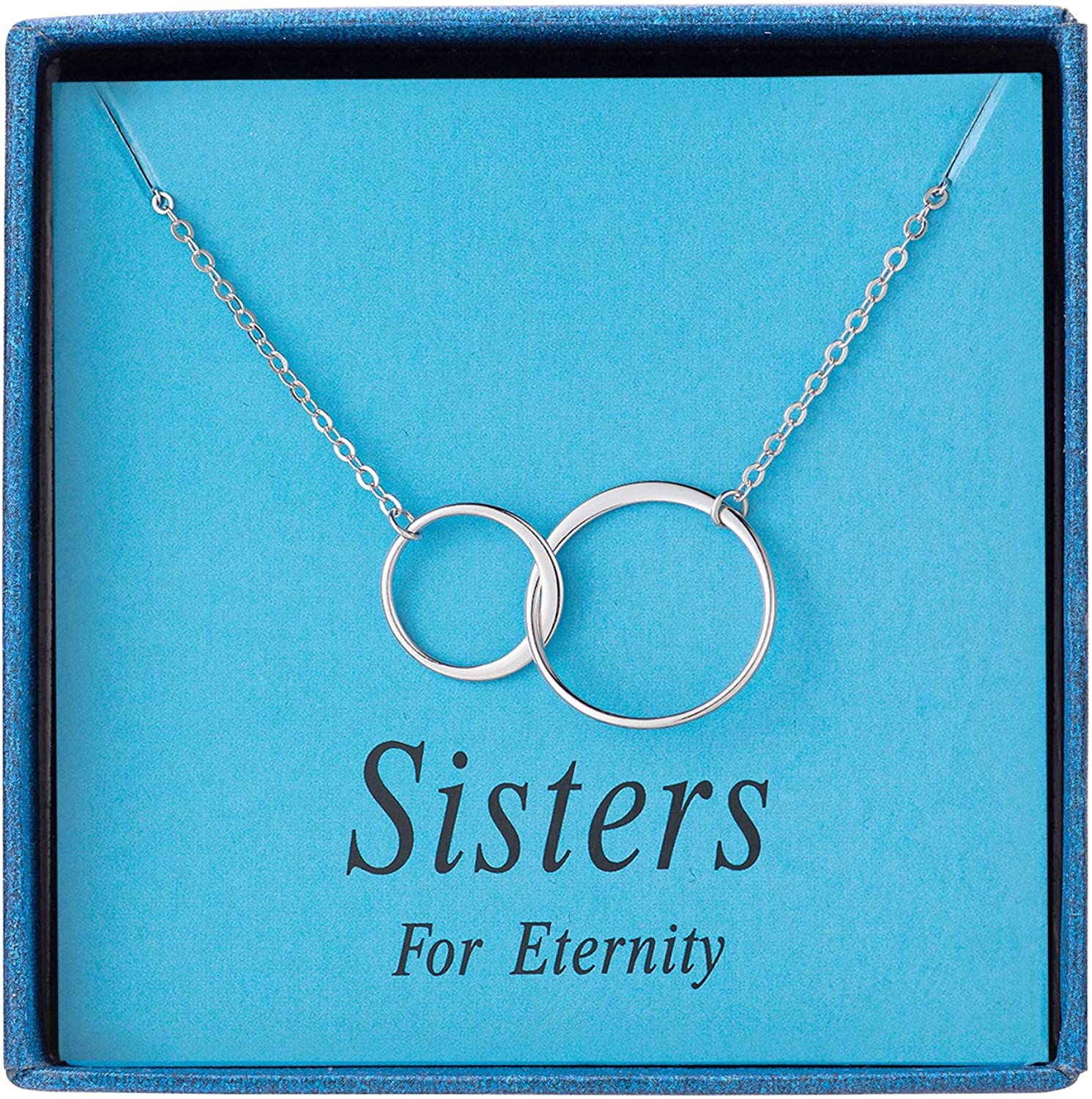 Sterling silver circle necklace.Eternity Necklace,3 pearls necklace.three sisters gift.three bridesmaids necklace infinity wedding Gift